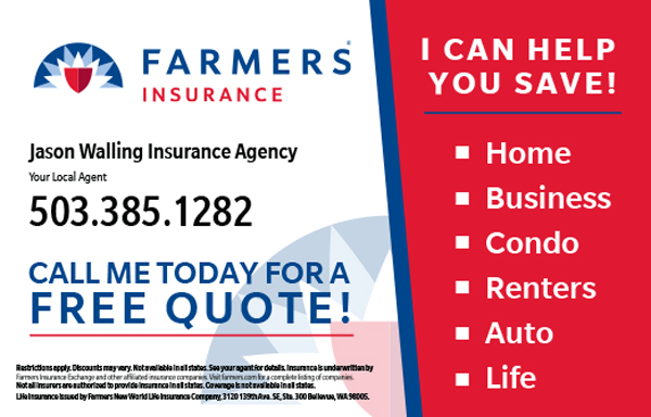 Jason Walling – Farmer's Insurance Coupon